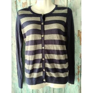 🎈Navy/Gray Button Down Cardigan Sweater XS